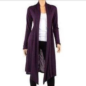 Rags and Couture Sweaters - R&C  Knee Length Hacci Open Front Cardigan size 1X